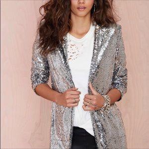 Nasty Gal sequin blazer